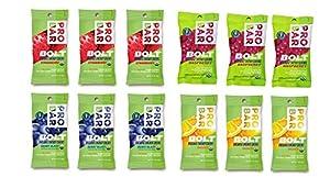 Probar Bolt Organic Energy Chews Orange, Raspberry, Strawberry, Berry Blast - Three of Each Flavor, Box of 12