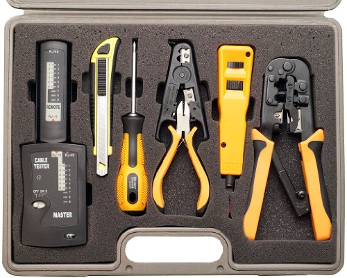 Professional network installer tool kit 10 piece with for Canape network testing tool