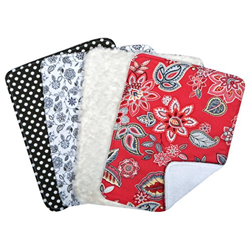 Trend Lab Waverly Charismatic Bouquet 4 Piece Burp Cloth Set