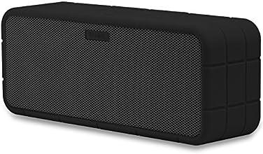 TANNC Enceinte Bluetooth Portable Haut Parleur Sans Fil, Kit Mains Libres, Batterie Rechargeable Intégré, Etui en Silicone Amovible Inclus, pour iPhone / iPad et Autre Appareil de Bluetooth -Noir