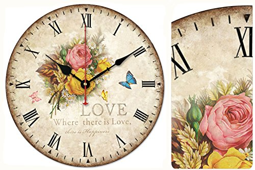 "KI Store Silent Wall Clock Decorative, Premium Vintage Wall Clocks 12"" 3"