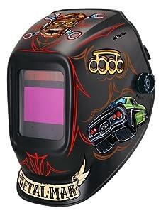 Metal Man ABR7800SG Bad Rod 9-13 shade Industrial Large Window Auto Darkening Welding Helmet by Metal Man