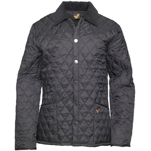 Voi Jeans Mens Pack Quilted Jacket Black