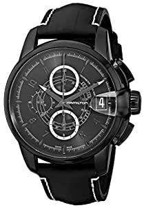 Hamilton Men's H40686335 Rail Road Black Chronograph Dial Watch