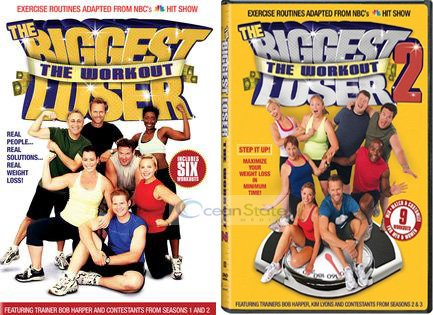 The Biggest Loser the Workout Volume 1 & 2 DVD Video 2 Disk Set