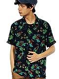 (エイト) 8(eight)3color 半袖 アロハシャツ レーヨン HOUSTON ヒューストン ネイビー XL