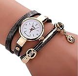 Montres pour femme,Hipzop Métal Montre-bracelet Montres fashion casual(Noir)