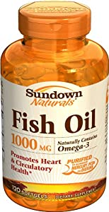 Sundown Fish Oil, 1000 mg, 120 Softgels (Pack of 2)
