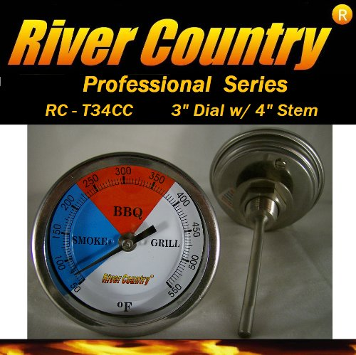 3 River Country (RC-T34CC) Adjustable BBQ, Grill, Smoker Thermometer (50 to 550F) сумка river island river island ri004bwzyz56
