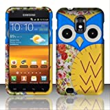 For Samsung Epic Touch 4G D710 / Galaxy S2 (Sprint) Rubberized Design Cover - Owl 2