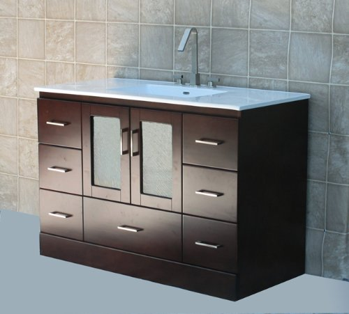 Solid Wood Vanity Cabinet back-1019683