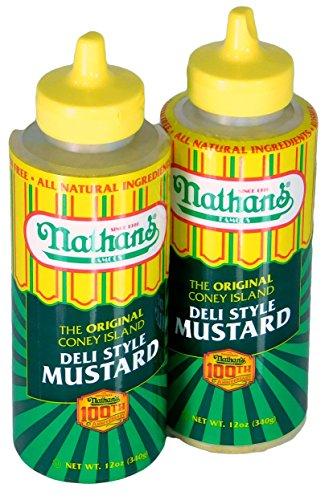 Nathans Famous Original Coney Island 100th Anniversary Deli Style Mustard (Hebrew National Deli Mustard compare prices)