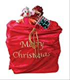 "Fun World Costumes Santa Sack, Red/Gold, 30""x36"""