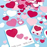 シール付き スポンジ ハート(150枚入り)バレンタインや母の日の手作りカード、ラッピングに