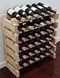 36 Bottle Capacity Stackable Storage Wine Rack, Solid Pine, WN36