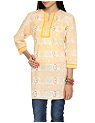 Rajrang CasuaL Wear Hand BLock Printed Cotton Short Kurta Size S