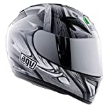 AGV T-2 Helmet , Color: Black/Gunmetal, Size: Md 0351O2A0008007