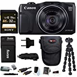 Canon Powershot SX710 HS 20.3MP Camera w/ 32GB Deluxe Accessory Bundle