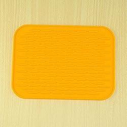 Large Holder Mats Silicone Kitchen Home Trivet Pot Tray Heat Non-slip Resistant