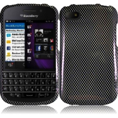 Cell Accessories For Less (Tm) For Blackberry Q10 Design Cover Case - Carbon Fiber - By Thetargetbuys