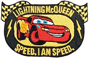 Bulk Buy: Wrights Disney Cars Iron On Appliques Lightning McQueen Emblem 193 810-4001 (3-Pack)