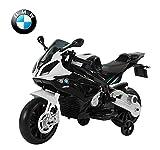 Moto-lectrique-BMW-pour-enfant-double-moteur-jeu-ducatif-en-PP-noir-et-blanc-neuf-07WT