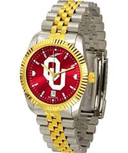 University of Oklahoma Sooners Mens Stainless Steel Alumni Dress Watch by SunTime
