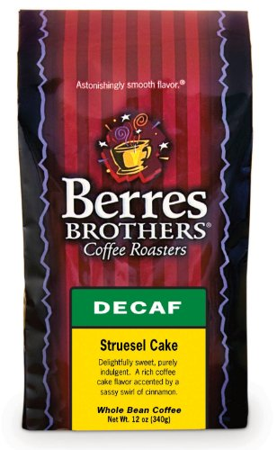 Berres Brothers Streusel Cake Decaf Whole Bean Coffee 12 Oz.