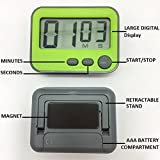 Bodvera Digital Kitchen Timer, Loud Alarm, Stand, Magnetic, Green