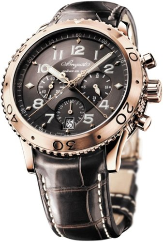 Breguet Transatlantique Type XXI Flyback Chronograph Rose Gold Mens Watch 3810BR929ZU