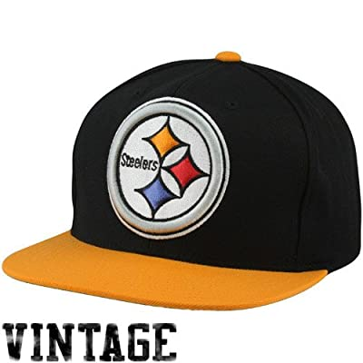 Mitchell & Ness Pittsburgh Steelers XL 2 Tone Logo Snapback Hat