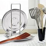 Progressive Lid and Spoon Rest, Yummy Sam Utensils Lid Holder Spoon Holder Lid Rest Lid Shelf Kitchen Utensils Holders Stainless Steel in Silver