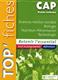 Sciences mdico-sociales Biologie Nutrition-Alimentation Technologie CAP Petite enfance