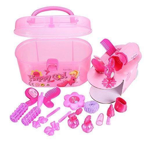 Arshiner-Little-Girls-Fashion-Beauty-Makeup-DIY-Plastic-Play-Set-Toy-with-Storage-BoxUS-STOCK