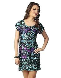 Love From India - Green Jewel Print Dress_100239_GREEN_L
