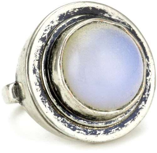 Low Luv by Erin Wasson Circle Moonstone Ring, Size 8