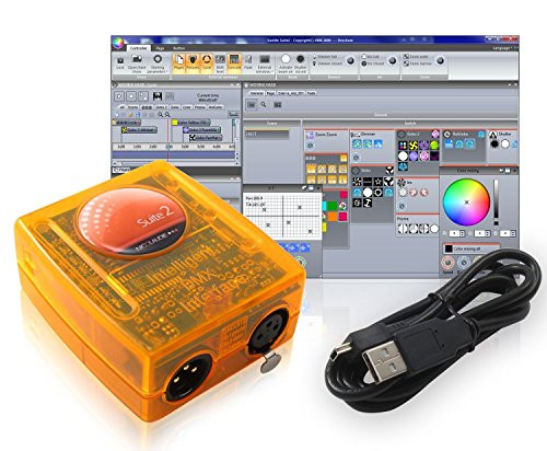 DMX USB Sunlite Suite 2 Basic Class SUITE2-BC Controller Interface & Software 512 Channels