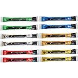 "Cyalume SnapLight 6"" Industrial Grade Light Sticks, Glow Sticks, Multi-Color 12 Pack (Green, White, Red, Orange, Yellow, Blue)"