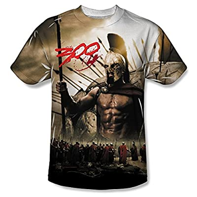 300 Spartans All Over Print Front T-Shirt