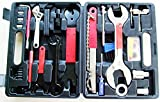 Kenli Multifunctional 44 Piece Bicycle Bike Maintenance Repair Tool Set Kit with Compact Carry Box for All Bike Types
