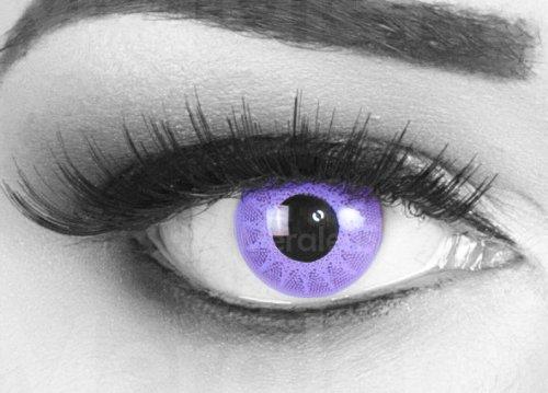 Farbige feingemusterte rosa Crazy Fun Kontaktlinsen