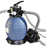 """Sand Master 71225 Above Ground Swimming Pool 13"""" Sand Filter with Pump for Intex"""