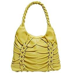 Frenchxd Kate Elizabeth Fancy Stylish Handbag for Women (Light Yellow)