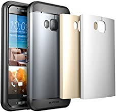 HTC One M9 Case, SUPCASE Water Resistant Full-body Rugged Case with Built-in Screen Protector for HTC One M9 (2015 Release), 3 Interchangeable Covers, Retail Packaging (Space Gray/Silver/Gold)