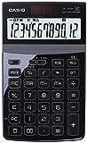 カシオ デザイン電卓 ジャストタイプ 12桁 JF-Z200BK-N ブラック