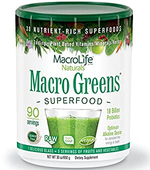 Macro Greens Superfood - 18 Billion Non-Dairy Probiotic Cultures