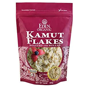 EDEN Kamut Flakes, 16 -Ounce Pouches (Pack of 6)