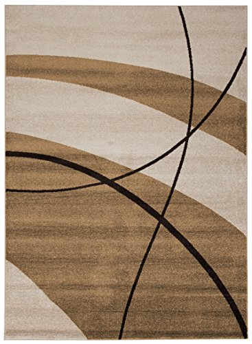 Viva Casa Tappeto, Materiale Sintetico, Avorio, 160x230x3.68 cm