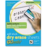 """GoWrite! Dry Erase Sheets, 8.5""""x11"""", White, 5 Sheets"""