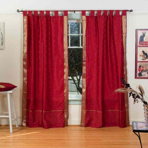 LORRAINE HOME FASHIONS Breeze Tab Top Window Panel 54 x 84 Coral